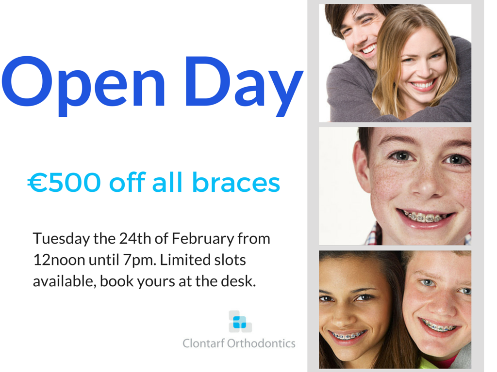 Open Day- €500 Off All Braces Incl. Invisalign